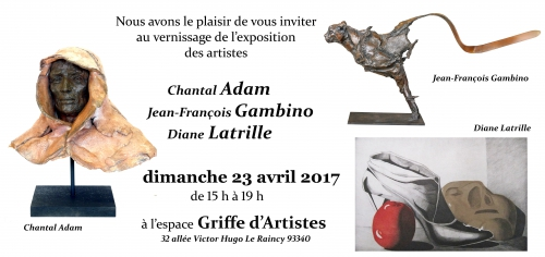 exposition,vernissage,gambino,adam,latrille,gravure,sculpture,photo,griffe,artiste,raincy,